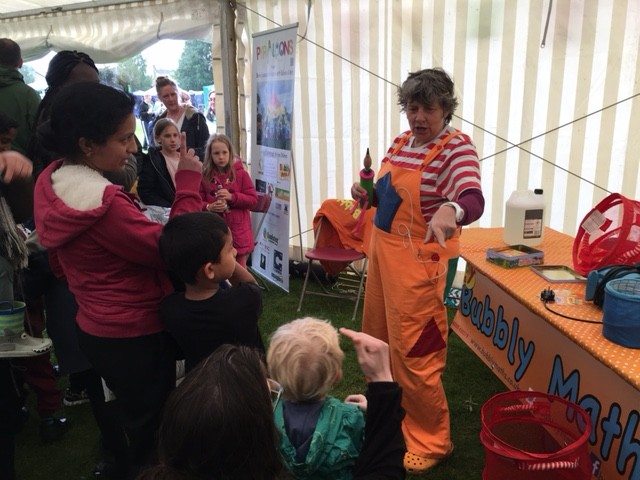 Bubbly Maths in the Children's Marquee