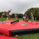 Army Cadets try the sweeper