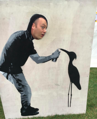 The Heron Heron peep board - exclusive to the Cherry Hinton Festival!