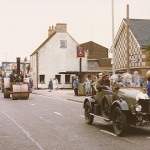 Festival parade going past the Chequers pub